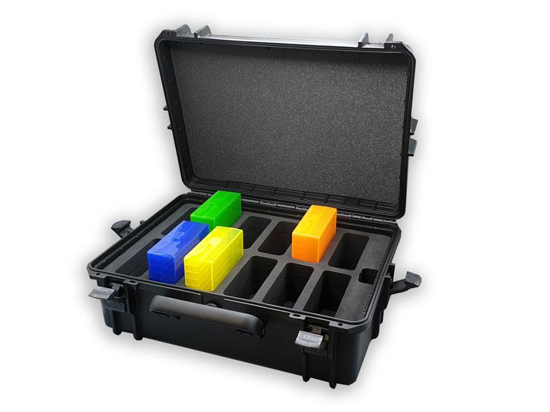 valise présentation avec mousse et boite de couleurs